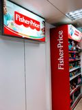 Счетчик цены Fisher стоковые фотографии rf