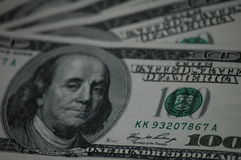 Счеты 100 американских долларов Стоковые Изображения