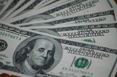 Счеты 100 американских долларов Стоковые Фото