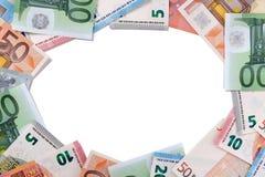Счеты валюты евро объезжают космос экземпляра рамки границы Стоковые Фото