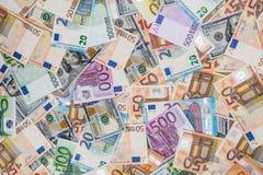 счеты доллара и евро для desing Стоковая Фотография RF