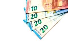Счеты евро бумажные Стоковое Фото