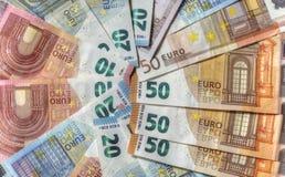 Счеты евро, деньги Стоковая Фотография