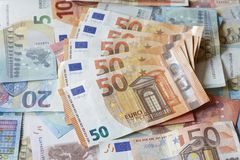 Счеты евро, деньги Стоковая Фотография RF