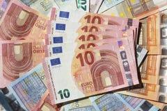 Счеты евро, деньги Стоковые Изображения