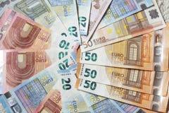 Счеты евро, деньги Стоковое Изображение RF