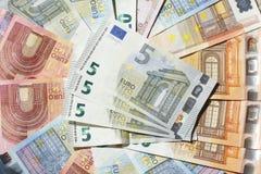 Счеты евро, деньги Стоковые Фото