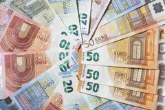 Счеты евро, деньги Стоковые Фотографии RF