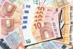 Счеты евро, деньги Стоковое фото RF