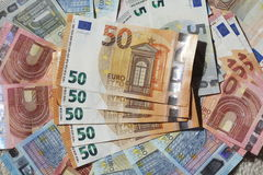 Счеты евро, деньги Стоковое Фото