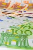 Счеты евро Стоковое фото RF