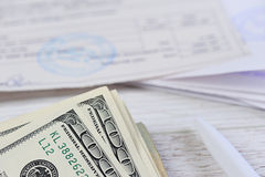 Счеты денег оплаты Стоковое фото RF