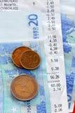 Счеты и деньги Стоковое Изображение RF