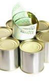 счеты консервируют олово евро Стоковое Изображение