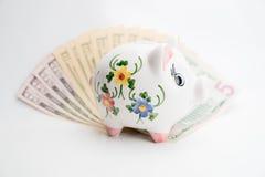 Счеты копилки и доллара США Стоковое Изображение