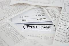 Счеты, который нужно оплатить Стоковые Фотографии RF