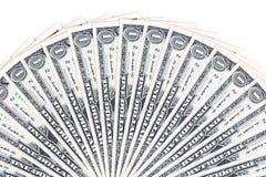 Счеты одного доллара на белой предпосылке Стоковое Фото