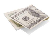 Счеты доллара на белизне Стоковое Изображение RF