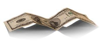Счеты доллара на белизне Стоковые Изображения RF