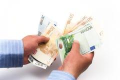счеты подсчитывая евро Стоковые Фото
