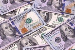 Счеты 100 предпосылок доллара абстрактных новые и старые Стоковое Изображение