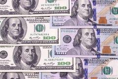 Счеты 100 предпосылок доллара абстрактных новые и старые Стоковое Изображение RF