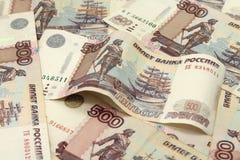 Счеты 500 русских рублей предпосылки Стоковое Изображение