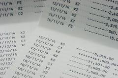 Счет в банк банковской книжки на предъявителя сберегательного счета Стоковая Фотография RF
