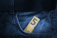 Счет евро 5 Стоковое Изображение