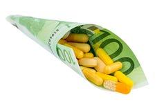 100 счет и таблеток евро Стоковое фото RF