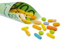 100 счет и таблеток евро Стоковое Фото
