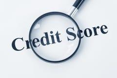 счет кредита стоковая фотография rf