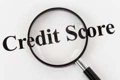 счет кредита стоковое фото