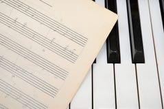счет рояля нот клавиатуры старый Стоковые Изображения RF