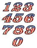 США ввели номера в моду Стоковое Изображение