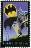 США - 2014: выставки бэтмэн, серия 75th годовщина комиксов DC стоковые изображения