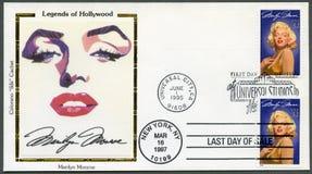 США - 1995: выставки Мерилин Монро (1926-1962) Стоковое Изображение