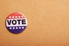 США голосуя Pin на флаге Стоковые Изображения