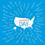США заявляют иллюстрацию вектора Дня независимости иллюстрация вектора