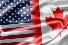 США и Канада Стоковое Изображение RF
