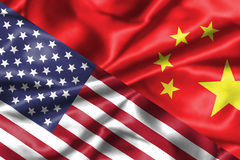 США и отношение Китая Стоковое Фото