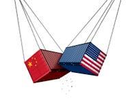 США и торговая война Китая бесплатная иллюстрация