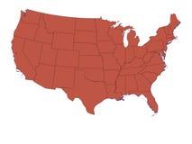 США на белом показе предпосылки Стоковые Изображения RF