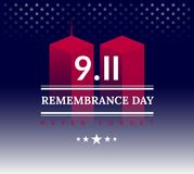 9/11 США никогда не забывают 11-ое сентября 2001 Illu вектора схематическое стоковые изображения