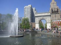 США Нью-Йорк Квадрат Вашингтона стоковые изображения rf