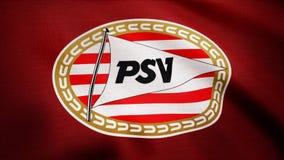 США - НЬЮ-ЙОРК, 12-ое августа 2018: Эйндховен, Nederland- одушевил логотип клуба PSV Эйндховена футбола Nederland редакционо стоковые изображения rf