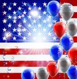 США 4-ое июля раздувают предпосылка Стоковое Изображение RF