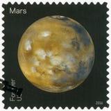 США - 2016: показывает Марс, взгляды серии наших планет Стоковые Фотографии RF