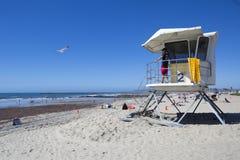 США - Пристань и личная охрана пляжа океана Калифорнии - Сан-Диего Стоковая Фотография RF