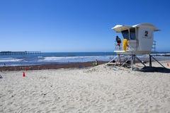 США - Пристань и личная охрана пляжа океана Калифорнии - Сан-Диего Стоковое Фото